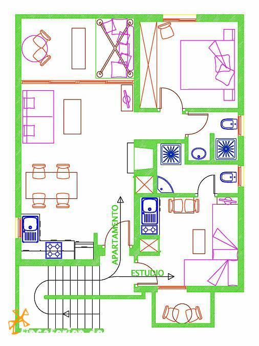 ibiza g nstiges studio am meer f r 2 personen cala. Black Bedroom Furniture Sets. Home Design Ideas