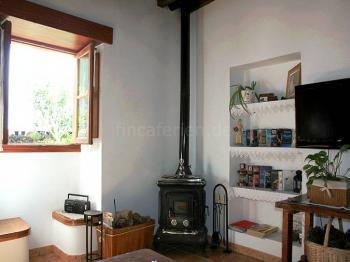 Wohnraum mit Holzofen