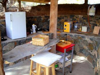 Außenküche mit Tresen