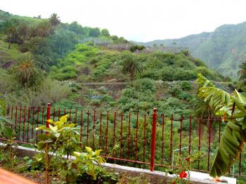 Blick von der Terrasse ins Tal von Hermigua