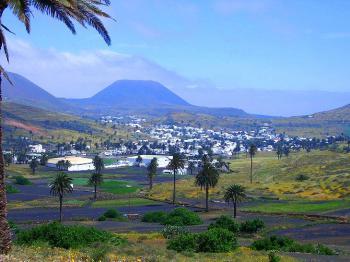 Blick auf den Ort Haria