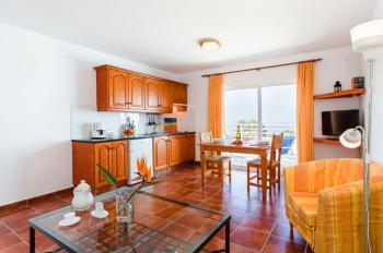 Wohnzimmer und Küche (Wohnbeispiel)