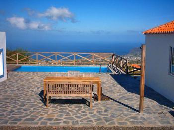 Pool mit Panoramablick über das Meer