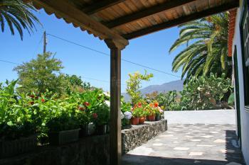 Landhaus in El Paso - Terrasse und Garten