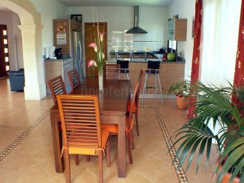 Großer Wohn-/Essbereich mit offener Küche