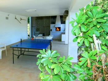 Grillecke und Tischtennisplatte