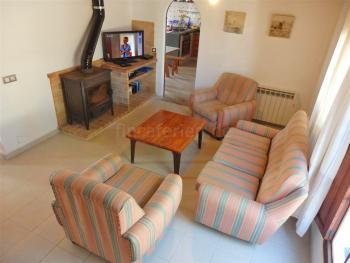 Wohnzimmer - Sitzecke am Kamin