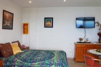 Wohn-/Schlafzimmer mit Sat-TV