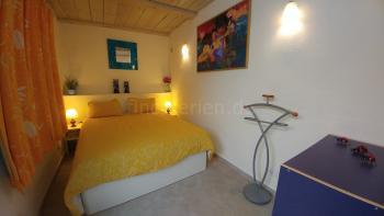 Schlafzimmer im Gartenhaus